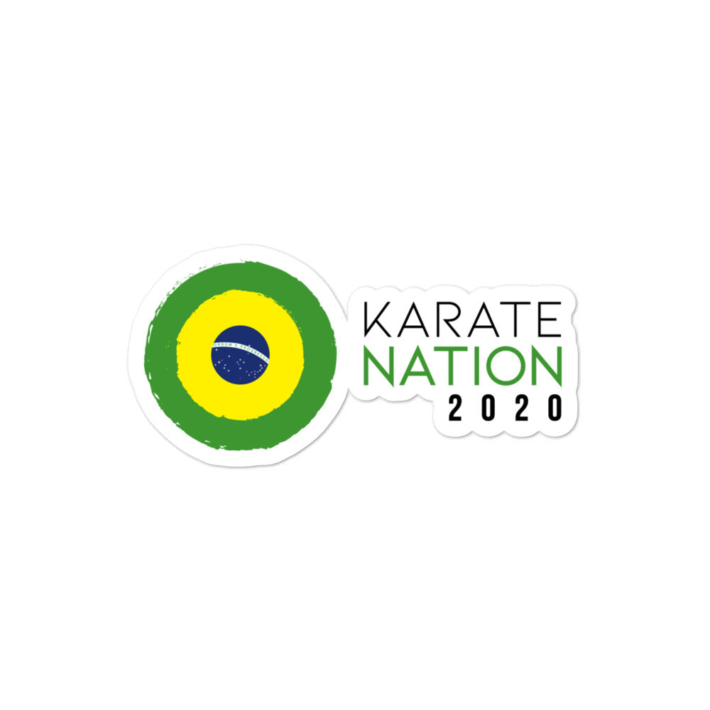 Karate Nation Brazil Horizontal Design Sticker