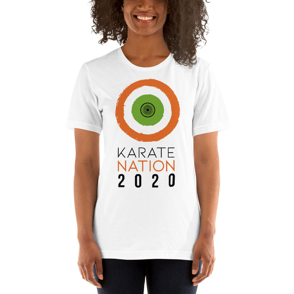 Karate Nation India Round Design T-Shirt - Unisex