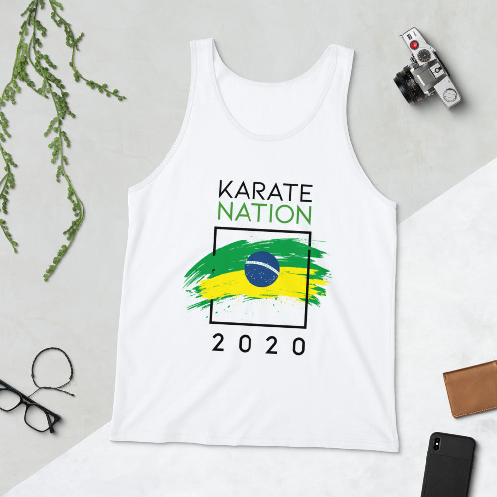 Karate Nation Brazil Square Design Tank Top - Unisex