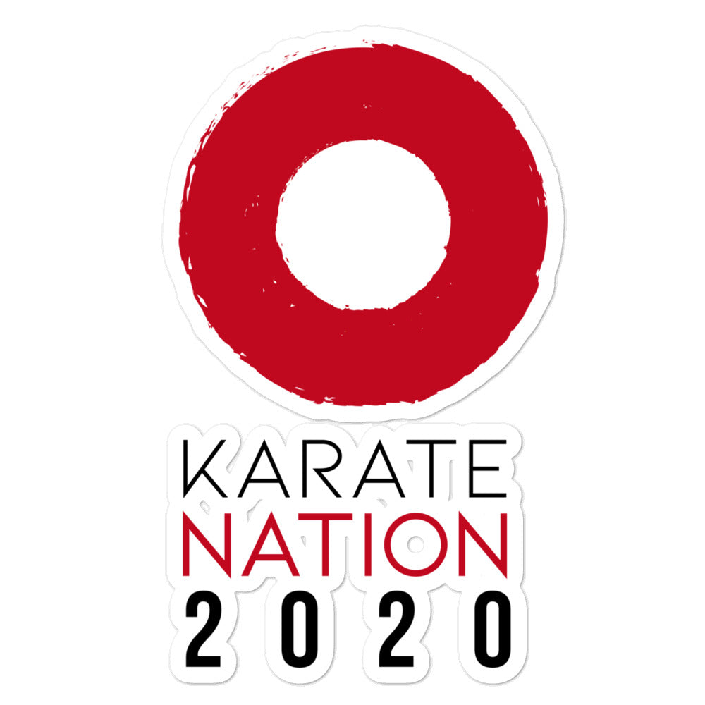 Karate Nation Indonesia Round Design Sticker