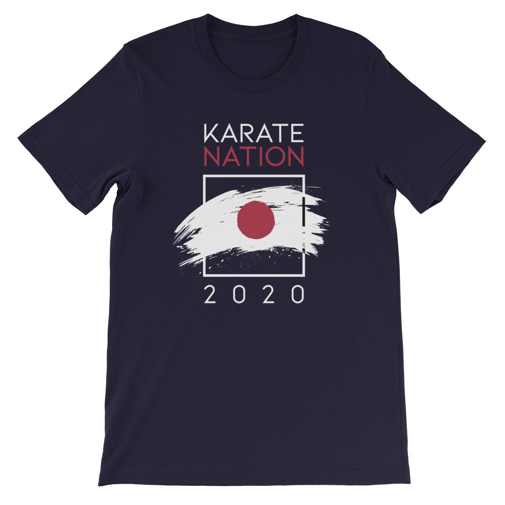 Karate Nation Japan Square Design T-Shirt - Unisex