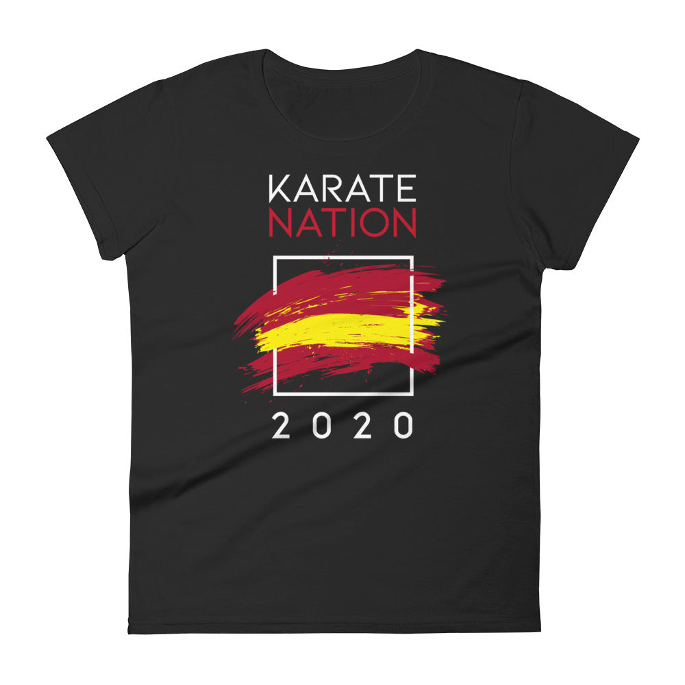 Karate Nation Spain Square Design T-Shirt - Women