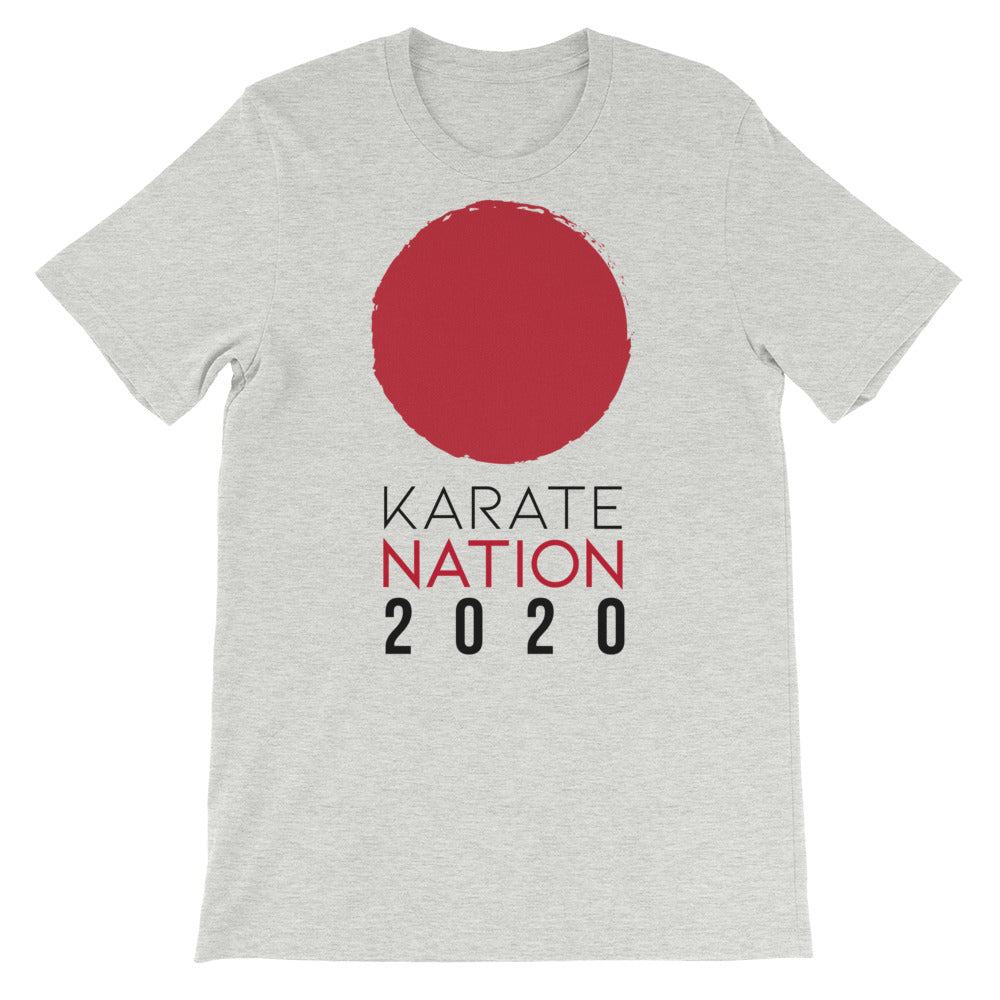 Karate Nation Japan Round Design T-Shirt - Unisex
