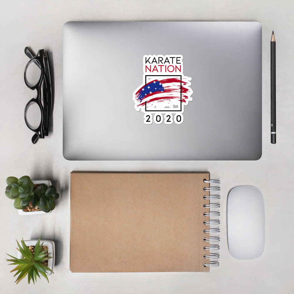 Karate Nation USA Square Design Sticker