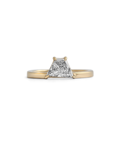 Mastaba Ring / White Diamond