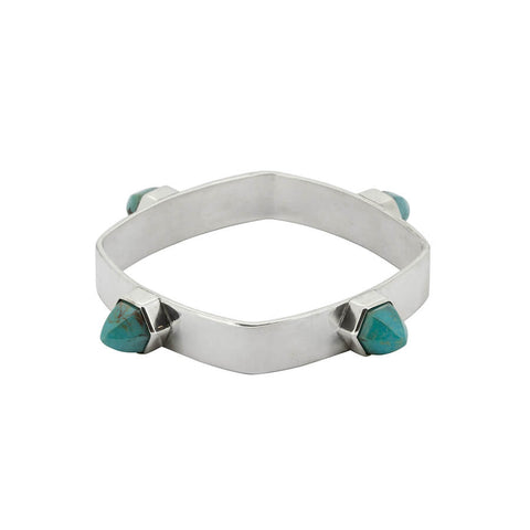 SPIKE BANGLE // SILVER TURQUOISE