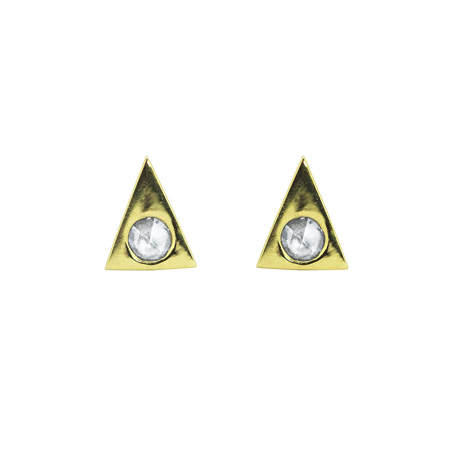 RA STUDS // DIAMOND + GOLD