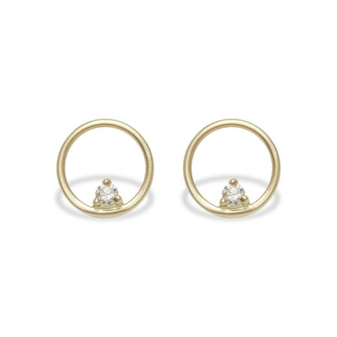 ATON EARRINGS // GOLD + DIAMONDS