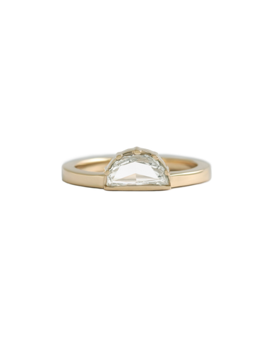 Sunrise Ring / White Half Moon Diamond