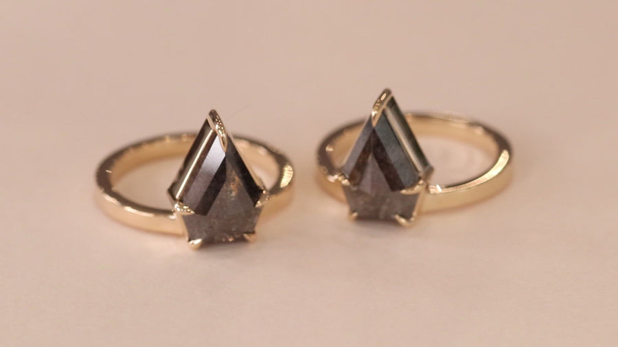 Matching Shield Ring / Salt + Pepper Diamond