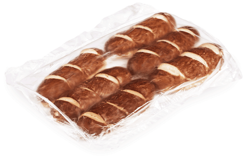 Wholesale Pretzilla Sliced Sausage Buns (Case)