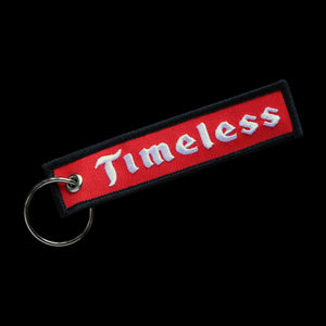 Timeless Racing Embroidered Keychain