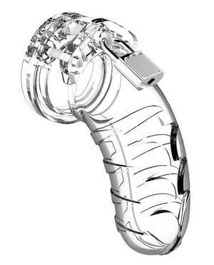 Man Cage Chastity 3.5 Clear (Size Options Available)