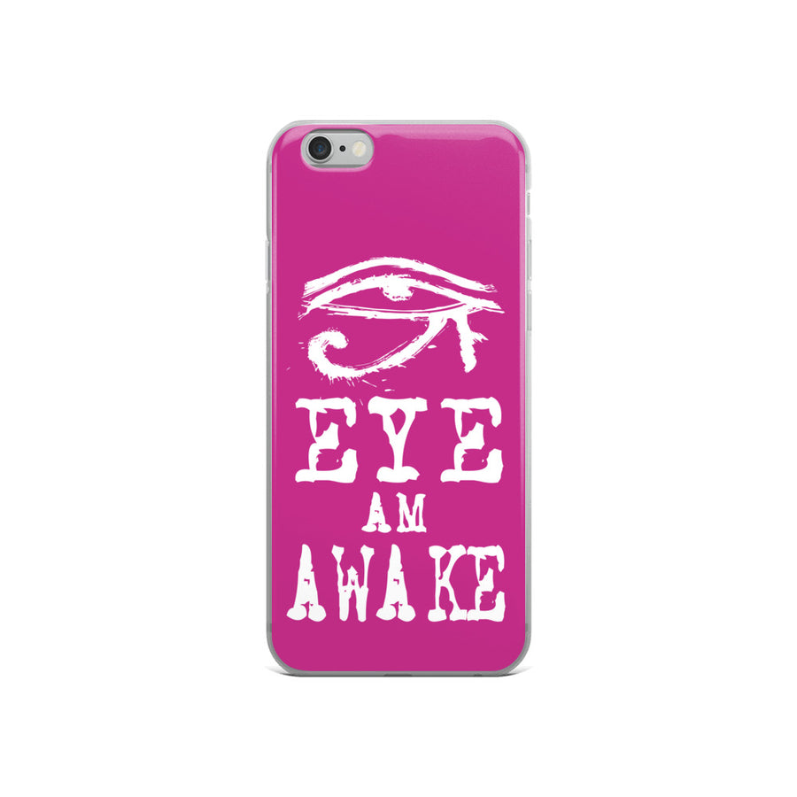 EYE AM AWAKE PINK iPhone Case