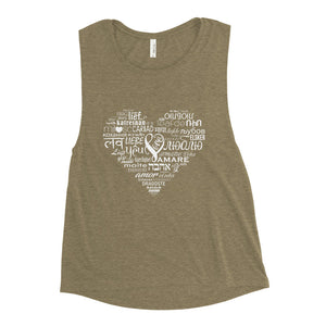LOVE LANGUAGES W Muscle Tank