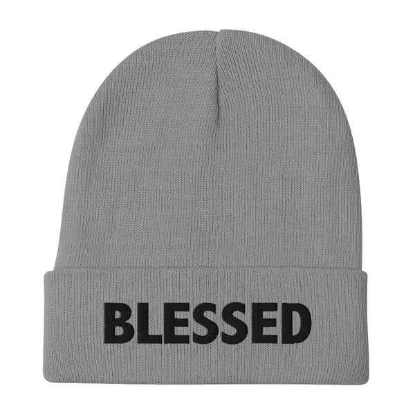 BLESSED Embroidered Beanie