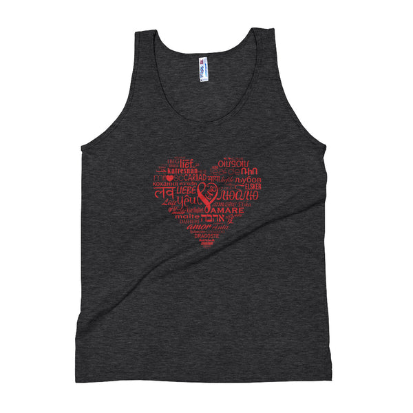 LOVE LANGUAGES RED Unisex Tank Top