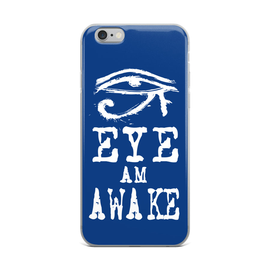 EYE AM AWAKE BLUE iPhone Case
