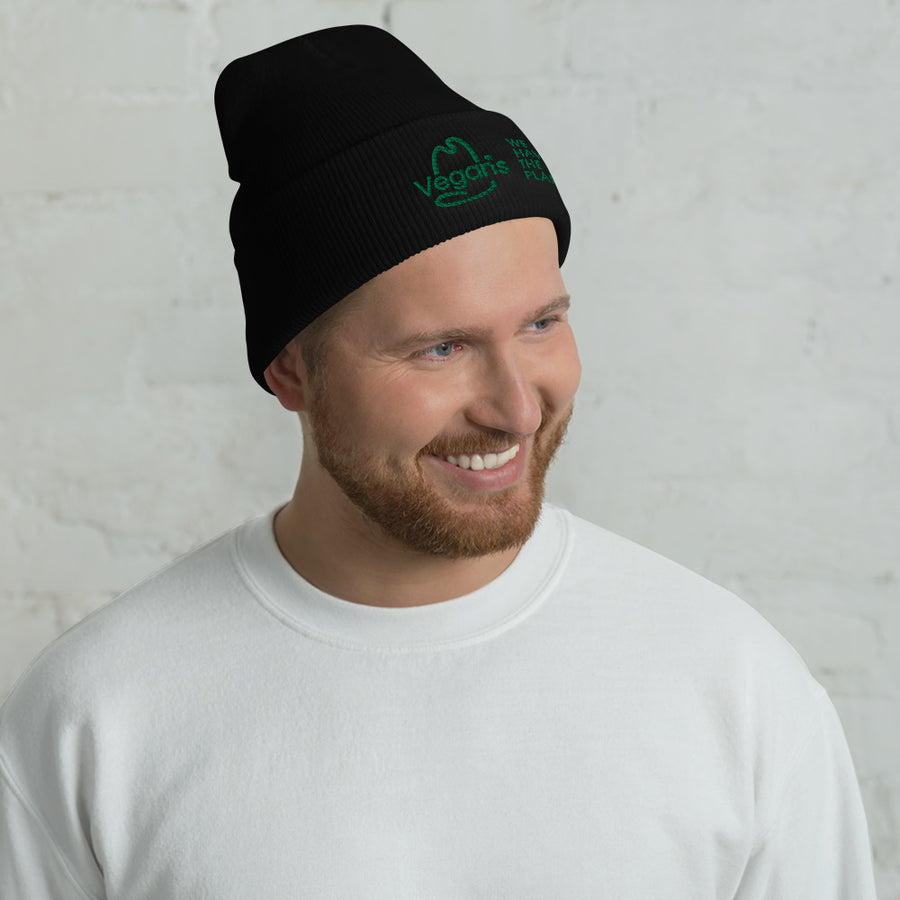 VEGANS WE HAVE THE PLANTS Cuffed Beanie