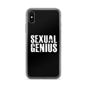 SEXUAL GENIUS BLACK iPhone Case