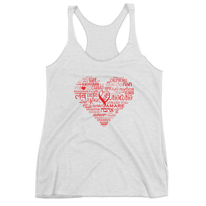 LOVE LANGUAGES R Racerback Tank
