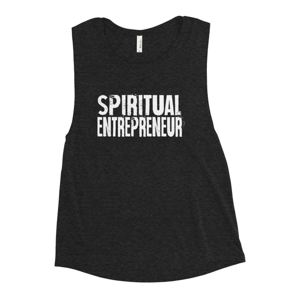 SPIRITUAL ENTREPRENEUR WHITE Ladies' Muscle Tank BC88