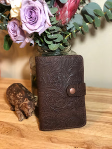 Small Journal - Refillable - Floral Tooling