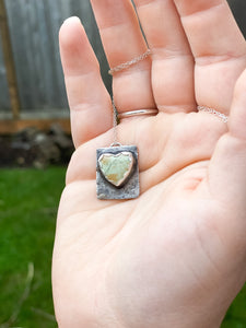 Heart Wild Horse Turquoise & Sterling Silver Pendant