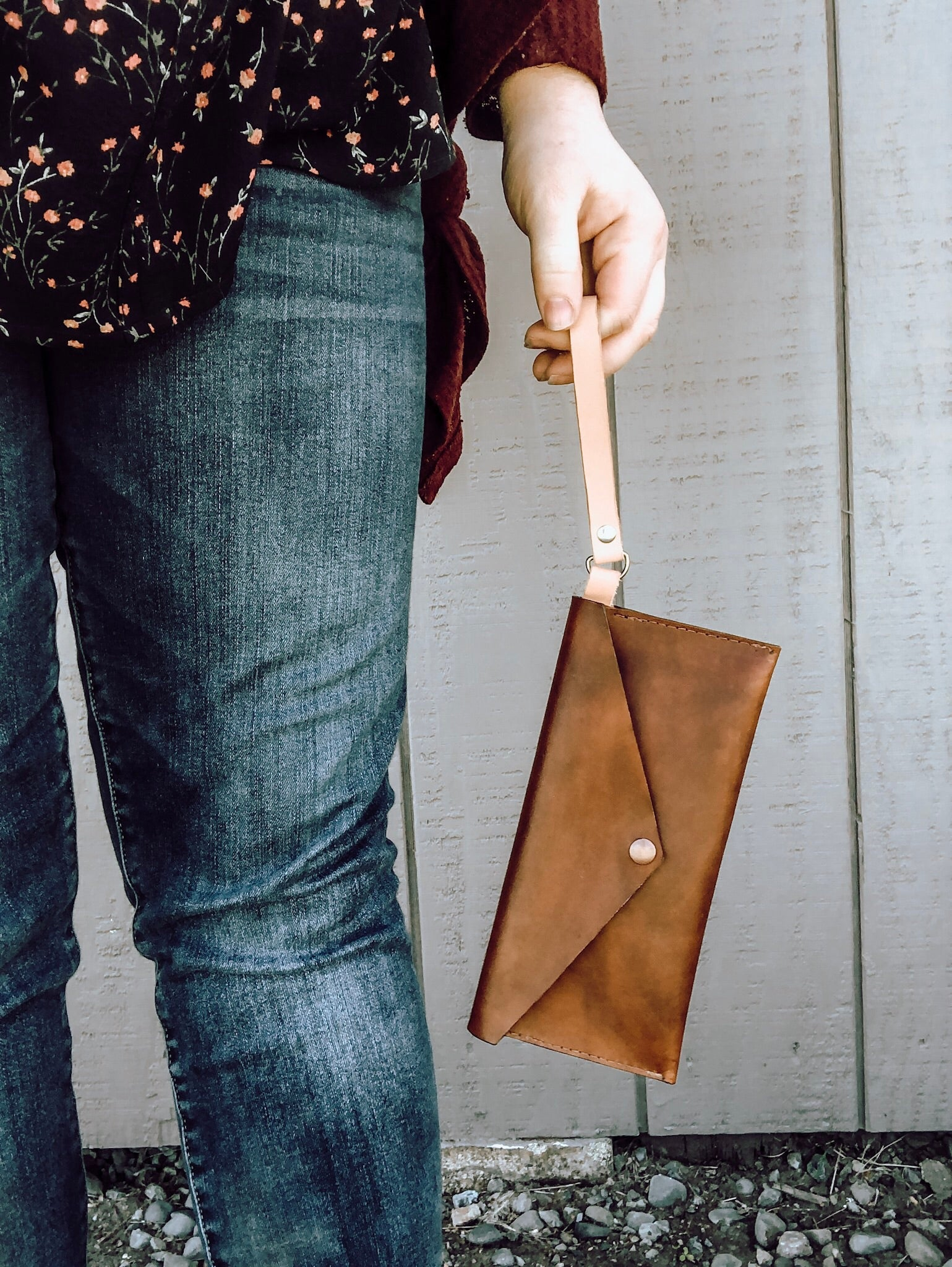 The Willa | Leather Wristlet