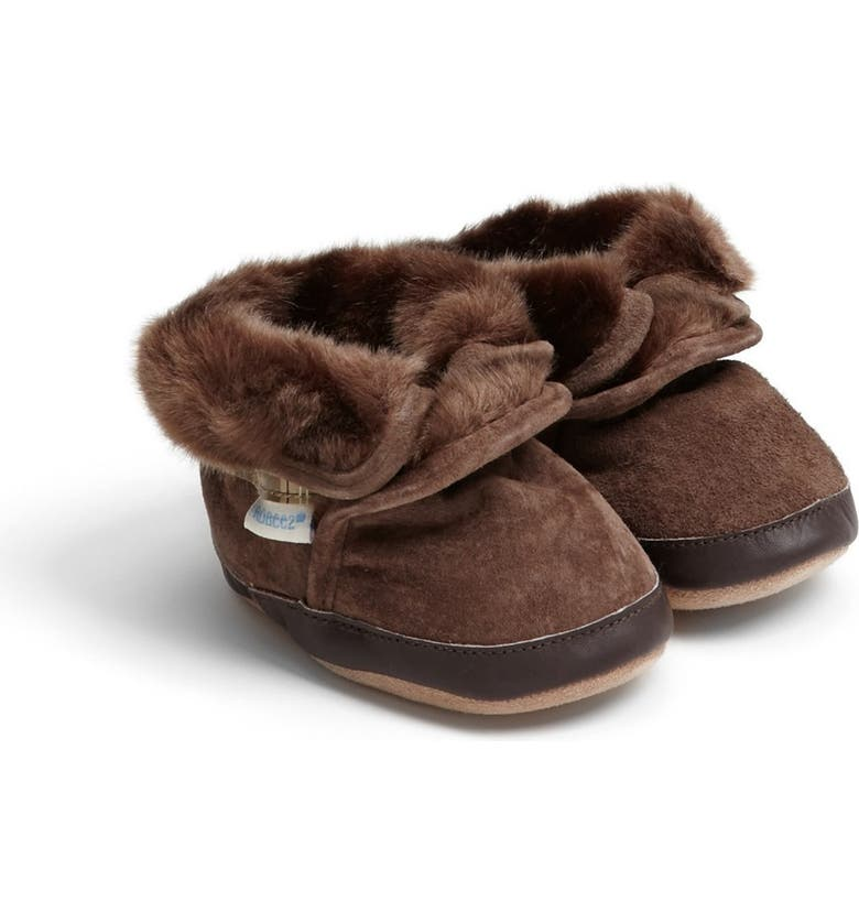 Robeez - Bottillon En Cuir Doublé Cozy Ankle Brown