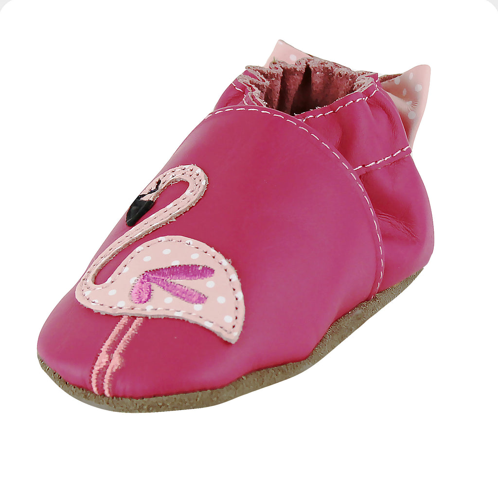 Robeez - Chausson En Cuir Pinky Flamingo
