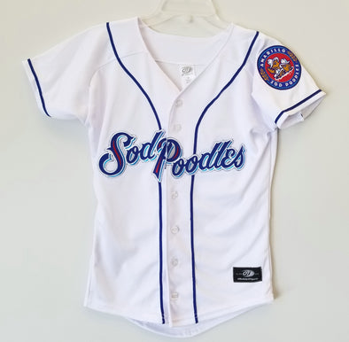 Amarillo Sod Poodles YOUTH White Iron-On Patch Replica Home Jersey