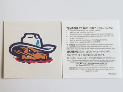 Amarillo Sod Poodles Temporary Game Tattoo