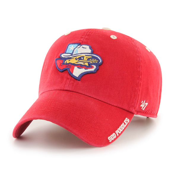 Amarillo Sod Poodles Red Ice State '47 CLEAN UP Adjustable Cap