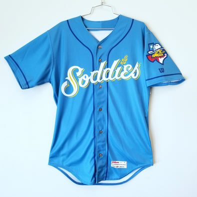 Amarillo Sod Poodles PERSONALIZED ADULT Sky Blue Sublimated Replica Alternative Home Jersey