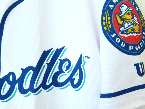 Amarillo Sod Poodles ADULT White Sublimated Replica Home Jersey