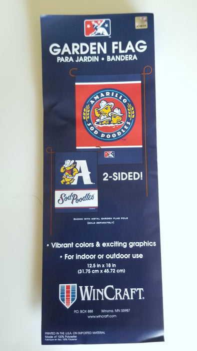 Amarillo Sod Poodles Double-Sided Garden Flag