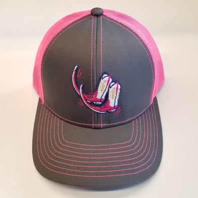 Pointy Boots de Amarillo Dark Grey & Neon Pink Boots MBW800SB Adjustable Hat