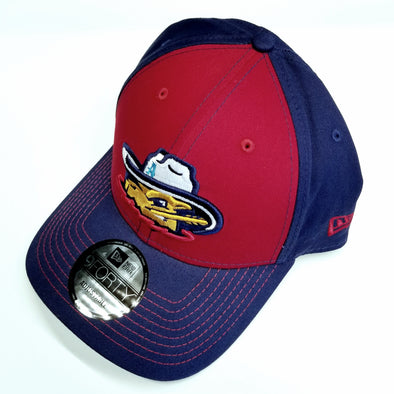 Amarillo Sod Poodles 940 Clutch Blue & Red with Red Stitch Head Logo Adjustable Hat