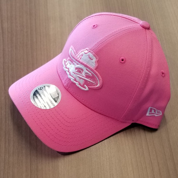Amarillo Sod Poodles Women's 940 Clutch Pink & White Game Adjustable Hat