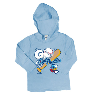 Amarillo Sod Poodles Light Blue Infant Long Sleeve Hoodie Tee