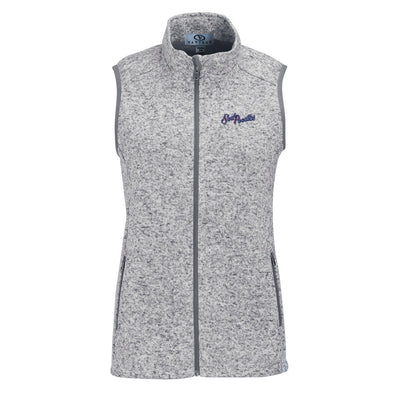 Amarillo Sod Poodles Vantage Women's Grey Summit Sweater Fleece Vest