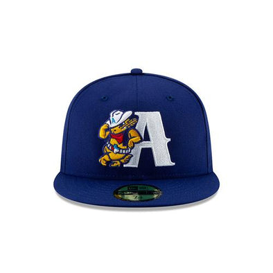 Amarillo Sod Poodles Blue Leaning A 5950 On-Field Hat