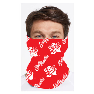 Amarillo Sod Poodles Red & Blue Neck Gaiter Face Mask Covers - NOW AVAILABLE!