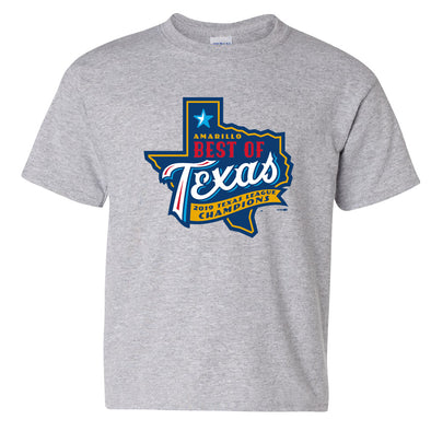 Amarillo Sod Poodles Youth Sport Grey Best of Texas Tee