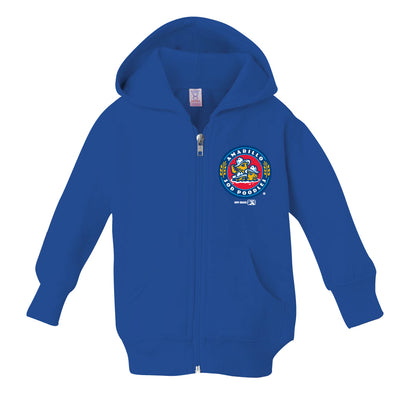 Amarillo Sod Poodles Royal Infant Crest Logo Full Zip Hoodie