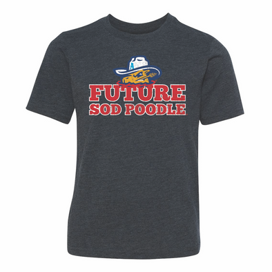 Amarillo Sod Poodles Navy Youth Future Sod Poodle Tee