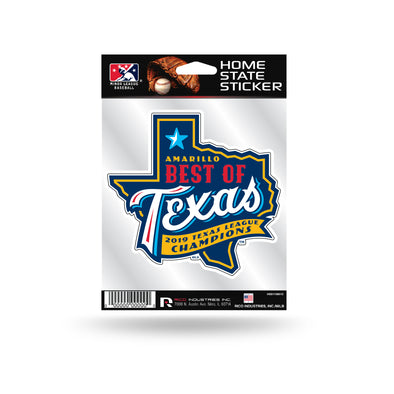 Amarillo Sod Poodles Home State Best of Texas 2019 Championship Decal Sticker