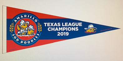 Amarillo Sod Poodles 2019 Texas League Champions Pennant