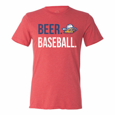 Amarillo Sod Poodles Red Beer. Baseball. Tee